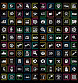 repair 100 icons universal set for web and ui vector image