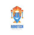 robotech logo design badge for company identity vector image vector image