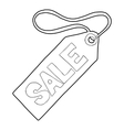 Sale tag icon outline style vector image vector image