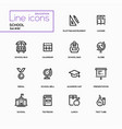 school concept - line design icons set vector image