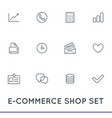 set e-commerce icons shopping and online can vector image