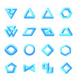 set impossible shapes optical isolated on vector image vector image