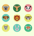 Set of happy cartoon animals vector image