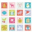 set of Merry Christmas Happy New Years vector image