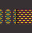 set seamless ethnic patterns geometric design vector image