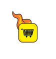 Shop buy market hot flame icon button theme art