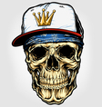 Skull with bandana and cap vector | Price: 5 Credits (USD $5)