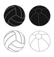 sport and ball logo vector image