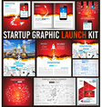 Startup Graphic Lauch Kit with Landing Webpages vector image vector image
