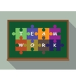 team work concept puzzle vector image vector image