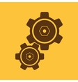 The settings icon Gears symbol vector image vector image