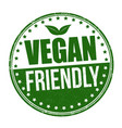 vegan friendly sign or stamp vector image vector image