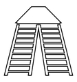 Vertical ladders icon outline style vector image vector image