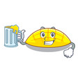 with juice slice mang on the caharacter shape vector image