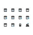 Shop duotone icons on white background vector image