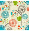Retro garden seamless pattern vector image