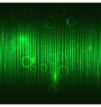 Abstract glowing green background vector image
