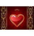 creative valentine greeting card vector image
