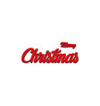 3d text merry christmas red color merry christmas vector image vector image