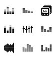 9 equalizer icons vector image vector image