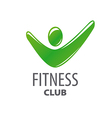 abstract green logo for fitness center vector image vector image