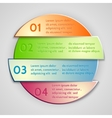 abstract round list infographic element vector image