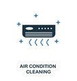 air condition cleaning icon creative two colors vector image vector image