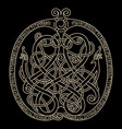 ancient decorative dragon in celtic style vector image vector image