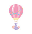 baby shower flying little boy with purple blanket vector image vector image