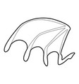 bat wing icon outline style vector image vector image