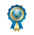 best seller rosette on white background vector image vector image