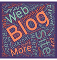Blogs vs Websites What s The Big Difference text vector image vector image