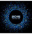 Blue Bright New Year 2015 Background vector image vector image