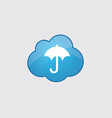 Blue cloud umbrella icon vector image vector image