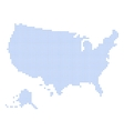 Blue Dotted USA Map on White Background vector image vector image