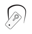 bluetooth headset icon on white background flat vector image vector image