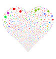 bomb fireworks heart vector image vector image