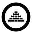 building block icon black color in circle vector image vector image
