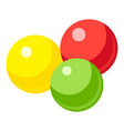 colorful gumballs icon cartoon style vector image vector image