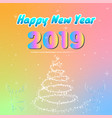 colorful happy new year 2019 vector image vector image