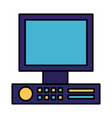 computer monitor device on white background vector image vector image