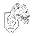 contour head dinosaur vector image vector image