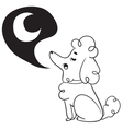 Cute Dog Howling to Moon vector image