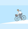 cycling business weekend sport activitity vector image