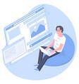 developer project engineer programming software vector image
