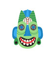 ethnic tribal mask with huge eyes and wide smile vector image vector image