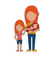 faceless mother and child cartoon vector image vector image