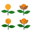 flower icon design on white background vector image vector image