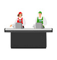 free cash desk vector image