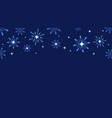 full hd blue shine snowflakes and stars elements vector image